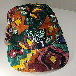 Coors Light retro vintage tribal Aztec hat